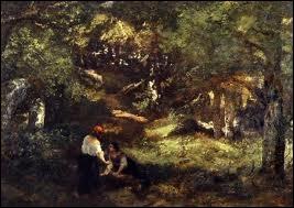 Quel peintre membre de l'école de Barbizon né à Bordeaux en 1807 a représenté  La forêt de Fontainebleau  ?