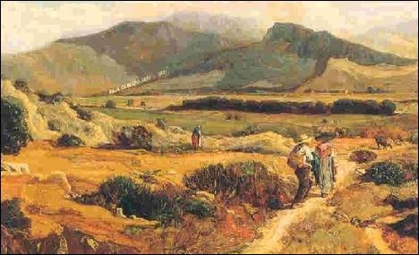 Quel peintre paysagiste né à Villars(Vaucluse) est l'auteur de la toile  Les collines d'Allauch  ?