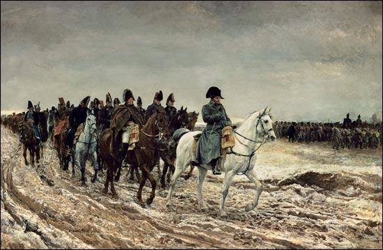 Quel peintre spécialisé dans la peinture historique militaire né à Lyon en 1815 est l'auteur de la toile  La campagne de France de 1814  ?