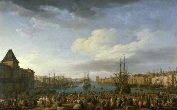 Quel peintre de marine né à Avignon en 1714 a représenté  Le port de Marseille  ?