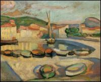 Quel peintre fauviste né à Marseille en 1879 a représenté  Le port de Cassis  ?
