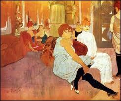 Dans quelle ville du sud de la France Henri de Toulouse-Lautrec auteur de la toile  Salon de la rue des Moulins  est-il né en 1864 ?