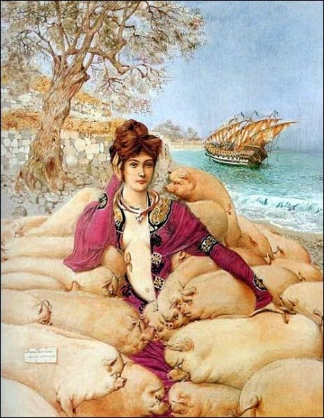 Quel peintre symboliste né à Nice en 1883 est l'auteur de la toile  Circé  ?