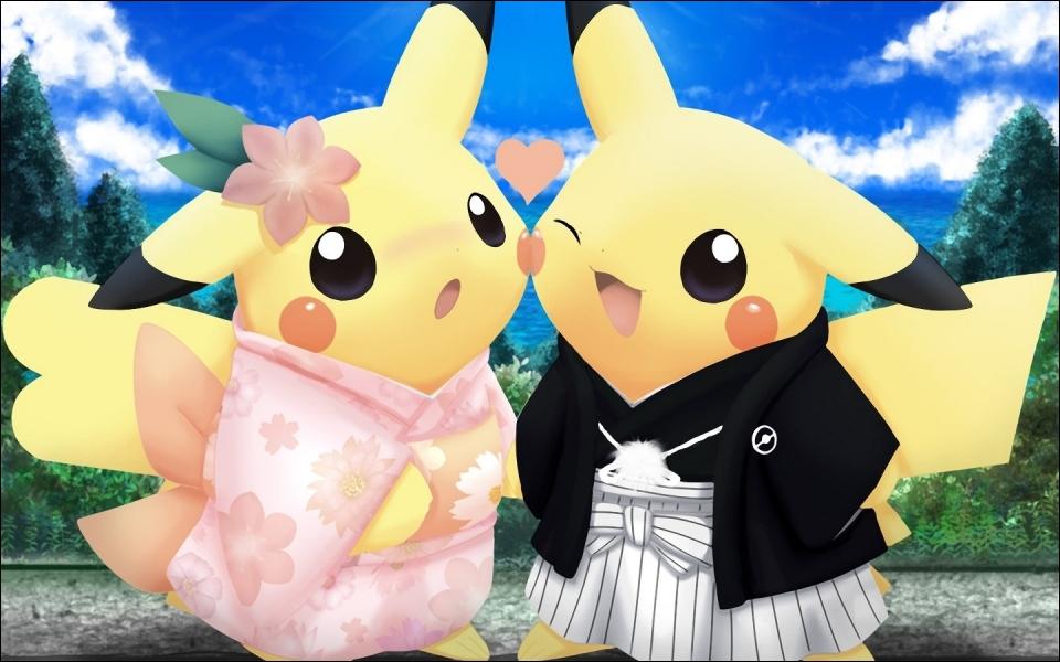 Que font ces deux Pikachu ?