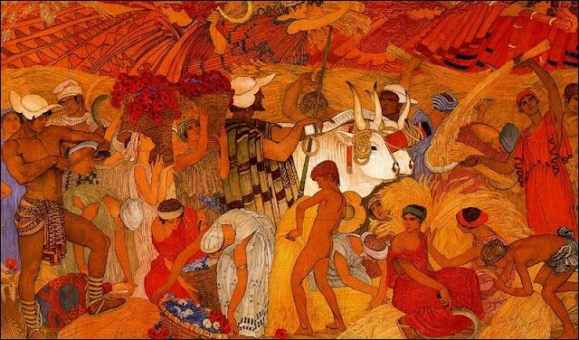 L'Eté et les moissons, 1918