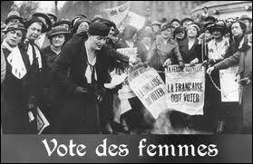 En 1944, les femmes :