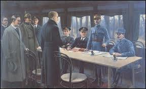 Date précise de l'armistice de la Première Guerre mondiale :