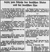 1935, lois contre les juifs :