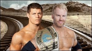 Quel est le vainqueur entre Christian contre Cody Rhodes dans un match simple pour le Intercontinental championship ?