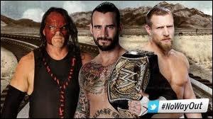 Quel est le vainqueur entre CM Punk contre Kane et contre Daniel Bryan dans Triple Threat match pour le WWE championship ?