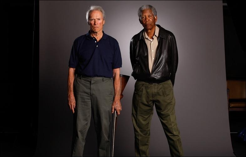 Se mettre en scène soi-même est un art très difficile, Clint Eastwood y excelle, surtout lorsque dans un western, il s'adjuge les services de Morgan Freeman et Gene Hackman ...