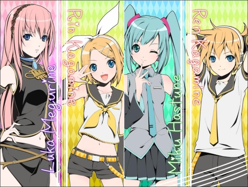 Len, Rin, Luka et Miku font-ils partie du manga Naruto ?