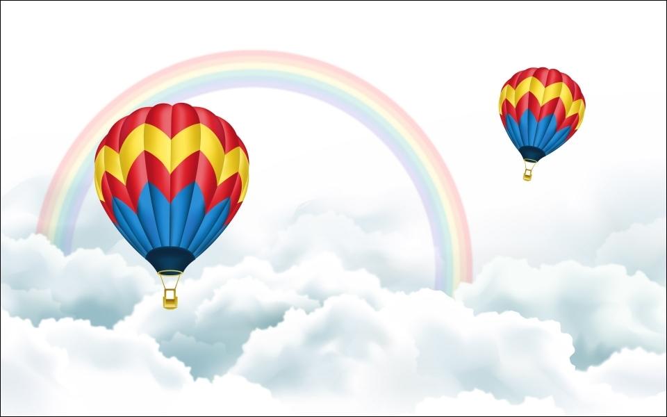 De quelles couleurs sont les montgolfières ?