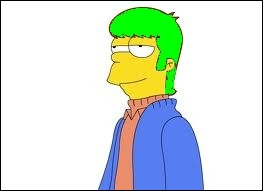 J'ai fait un photomontage d' Homer dans sa jeunesse avec une magnifique chevelure verte . Quelle est en réalité la couleur de ses cheveux d'origine ?