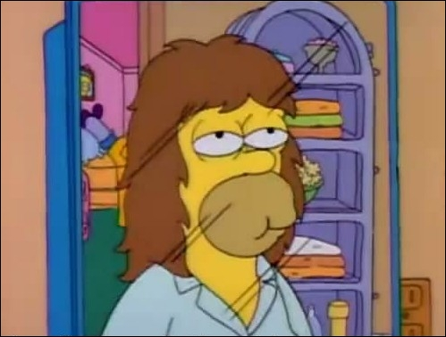 Dans l'épisode   Simpson et Dalila   , quel produit miracle achète-t-il à la clinique du cheveu pour obtenir cette abondante   crinière   ?