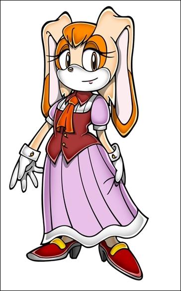 Et voici la mère de la petite lapine présentée un peu plus haut. Elle est apparue dans Sonic X et Vector serait amoureux d'elle...