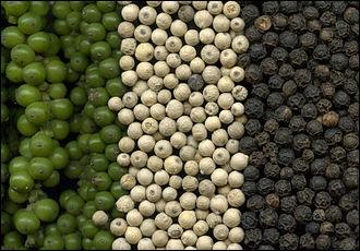 Comment est obtenu le poivre vert ?