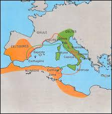 Quel nom a-t-on donné à la guerre qu'Hannibal a mené pour contrer l'hégémonie de la République romaine de 218 à 202 av JC ?