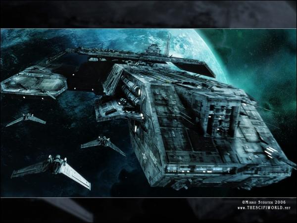 Comment s'appelle le premier croiseur spatial terrien ?