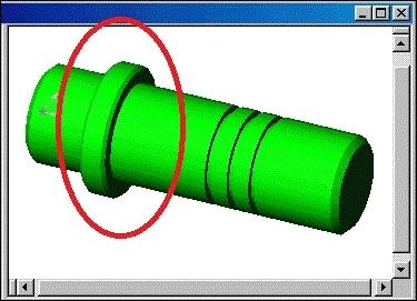 Un changement brusque de diamètre sur une pièce cylindrique, c'est un...