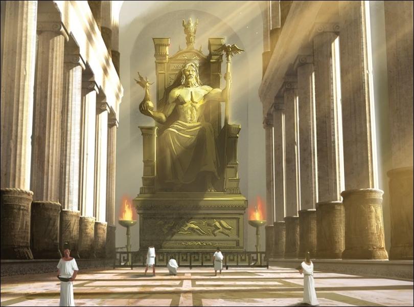 La statue de Zeus (Grèce) est une des :
