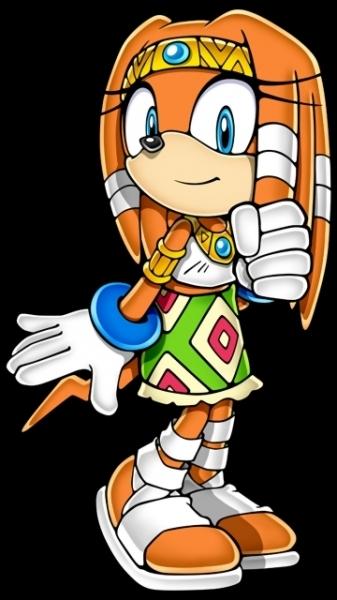 Voici une ancêtre de la tribu des échidnés. Son esprit a traversé les époques depuis de nombreuses années. Ce personnage apparaîtra dans Sonic X.