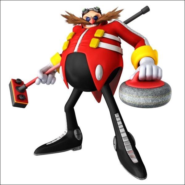 Voici le méchant du monde de Sonic. Doté d'un QI de 300, il fabrique sans arrêt des robots pour nuire aux aventures du hérisson bleu.