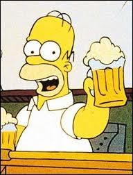 Pourquoi Homer semble-t-il si heureux à la fin de ce quizz ? Votre réponse doit logiquement tenir compte de l'image et de la thématique du quizz .