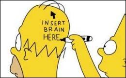 Qu'est-ce qui fait la caractéristique  cérébrale  d'Homer ?