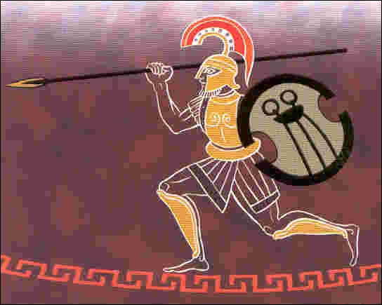 Souvent representé avec une allure guerrière, il est le dieu de la guerre. Qui est-ce ?