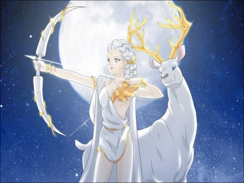 Voici la déesse de la chasse :
