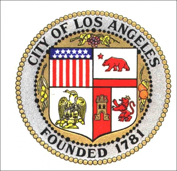 Quelles sont les couleurs du drapeau de la ville de Los Angeles ?