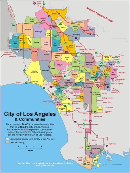 Parmi ces communautés, laquelle fait partie des limites de la ville de Los Angeles ?