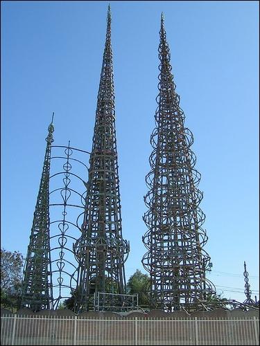 Les «Watts Towers» sont faites de câbles d'acier. Dans quel quartier de Los Angeles peut-on les retrouver ?