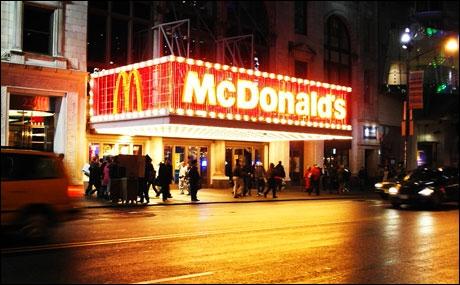 Combien y a-t-il de McDonald's à Manhattan ?