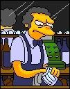 Quel sport Moe exerçait-il avant de devenir patron de la taverne ?