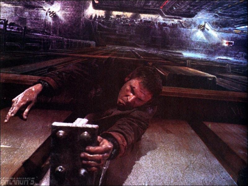 (1982) Harrison Ford a pour mission de chasser les  réplicants , androïdes mi-clones, mi-robots.