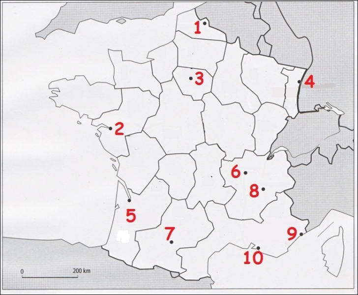 Lyon correspond au numéro :