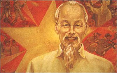 Comment s'appelle le leader communiste indochinois qui proclame l'indépendance du Vietnam en 45 ?