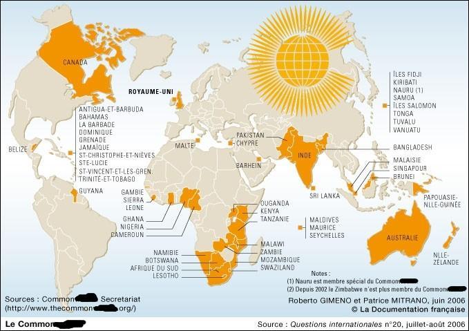 Comment s'appelle l'association économique et culturelle regroupant le Royaume-Uni et une partie de ses anciennes colonies ?