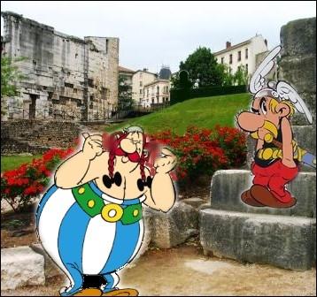 Enfin, repos bien mérité dans le jardin archéologique de Cybèle en Isère... .