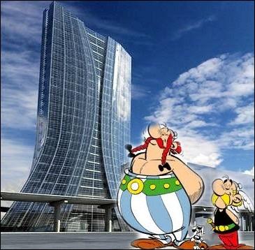 Nos compères sont étonnés par l'architecture de cette tour de 133 mètres en verre , métal et béton dominant le port de ... .