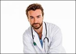 Un professionnel de santé travaille au rez-de-chaussée de l'immeuble. Quelle activité médicale exerce-t-il dans son cabinet ?