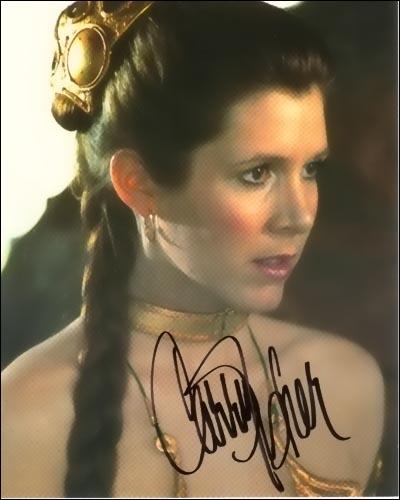 Dans quels rôles a été remarquée Carrie Fisher (Princesse Léïa Organa dans 'Star Wars') ?