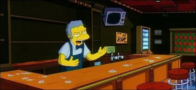Juste avant la coupure de courant, dans cette scène des  Simpson, le film , où était assis Lenny ?