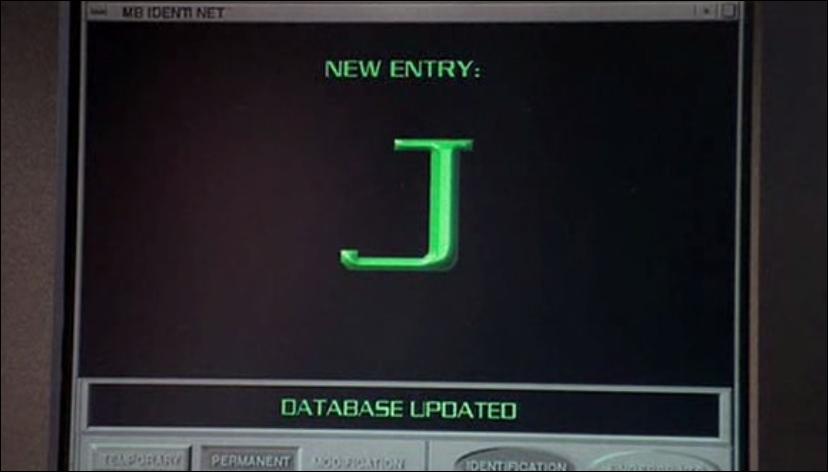 Dans cette scène de  Men in Black , qu'était-il écrit sur l'écran avant que K ne l'efface ?