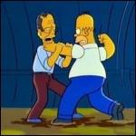 Avec quel président des Etats-Unis Homer s'est-il battu dans les égouts ?