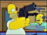 Dans un épisode, Homer veut acheter une arme à feu. Que doit-il faire pour l'obtenir ?