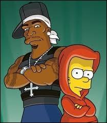 Quel rappeur est à côté de Bart Simpson ?