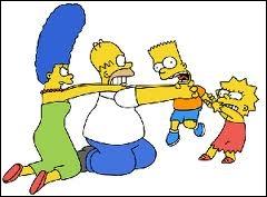 Quel membre de la famille Simpson ne fait pas partie de cette bagarre ?